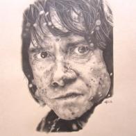 """Bilbo"", A4, matita su carta, 2015."