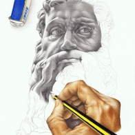 """""""Non finito"""", A4, matita su carta, 2013."""