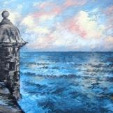 """""""San Juan"""", 35x50, olio su cartone telato, 2014."""