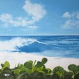 """""""Tiki"""", 50x50, olio su tela, 2014."""