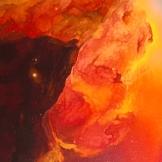 """""""Nebula"""", 60x70, olio su tela, 2017."""