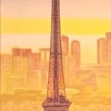 """""""Paris"""", 30x90, olio su tela, 2017."""